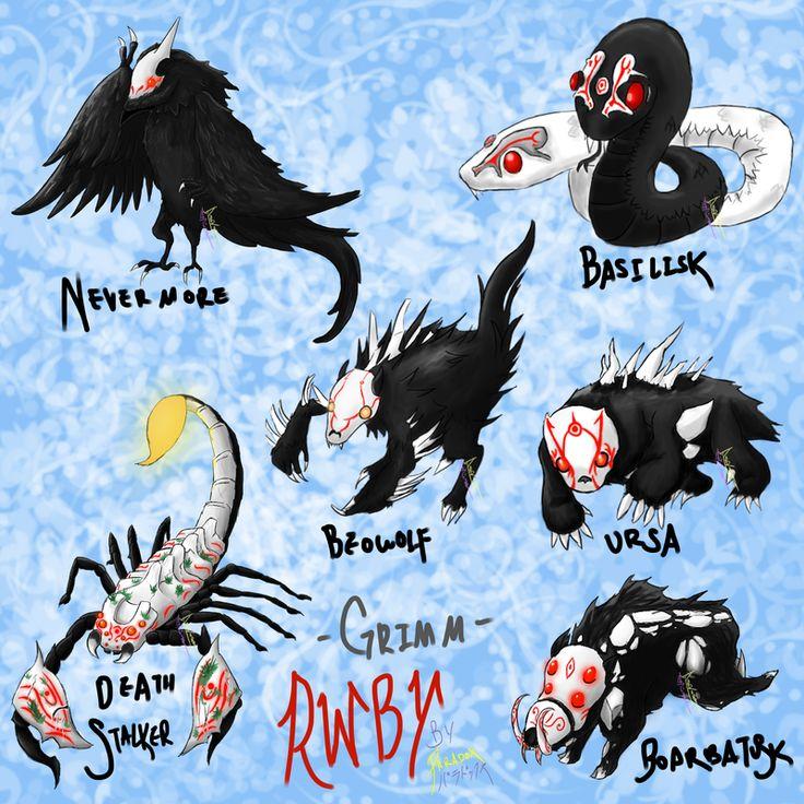 RWBY Grimm monsters by itachiuchiha963.deviantart.com on @DeviantArt