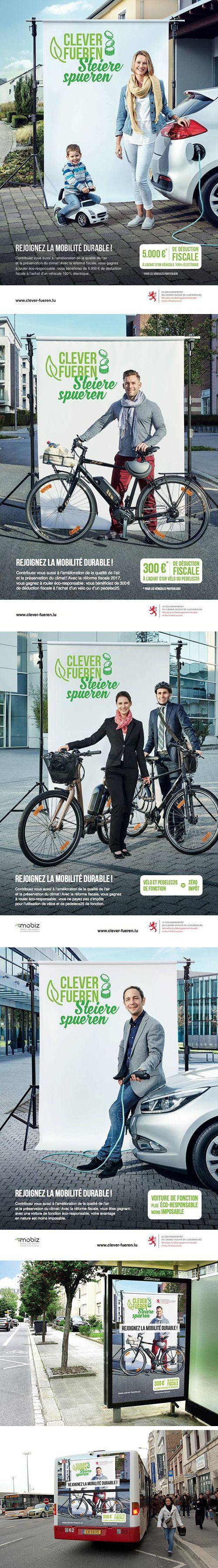 Avec la campagne « Clever fueren, Steiere spueren » signée Concept Factory, le MDDI présente les avantages fiscaux 2017 et promeut la mobilité durable