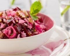 Salade de riz minceur à la betterave et au thon (facile, rapide) - Une recette CuisineAZ