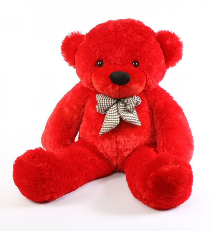 "teddy bears | Bitsy Cuddles 38"" Large Red Plush Teddy Bear - Giant Teddy Bear"