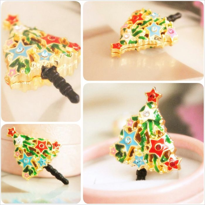 Koleksi Jewelry Pluggy (Stok Terbatas) :  Kode : AWS-199, Nama : Beauty Christmas Tree Pluggy / Gantungan HP, Price : IDR 55