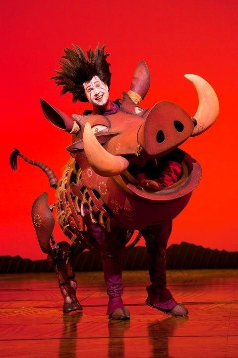 Pumbaa. Musical the Lion King