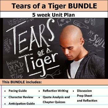 best tears of a tiger images a tiger teaching tears of a tiger unit bundle