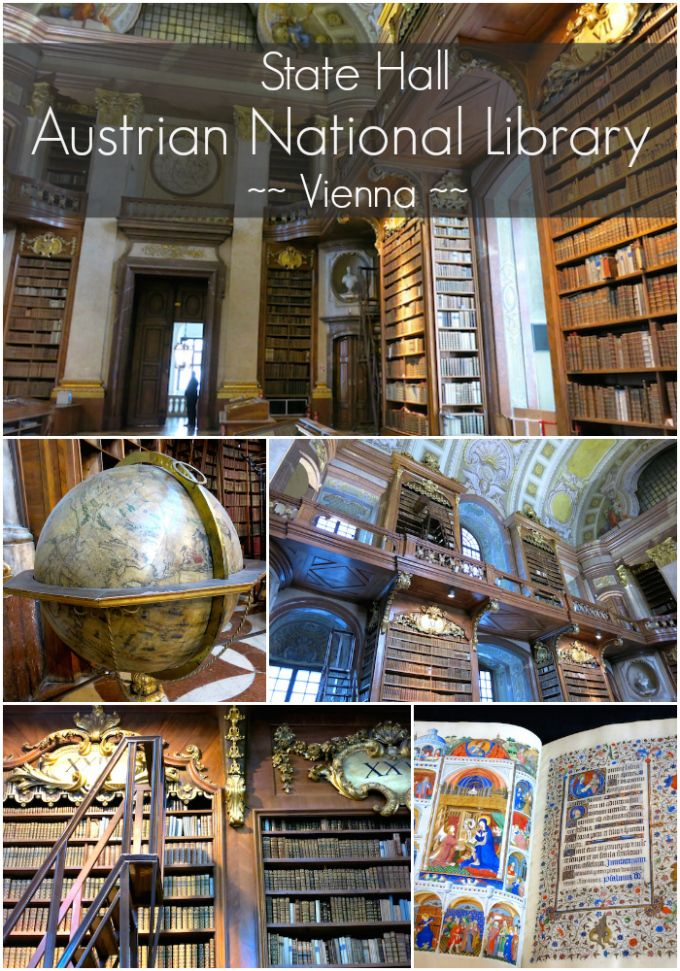 The Beautiful State Hall of the Austrian National Library in Vienna. It looked just like the library in Beauty and the Beast! Check that off my travel bucket list :)  www.northofsomething.com