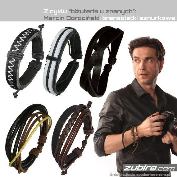 Bransoletki dla mężczyzn - idealne na nadchodzące lato, wykonane ze skóry, sznurków i koralików: http://zubiro.com/bransoletki_sznurkowe,40,0.html