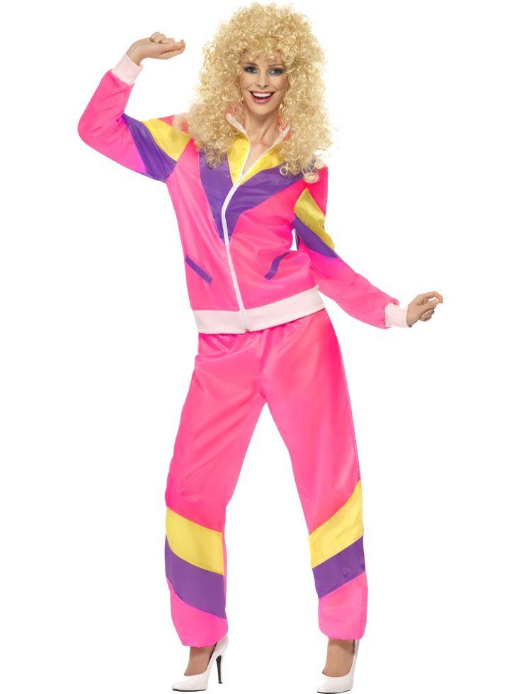 Lenkkeilijätär. Lenkkeilijättären räiskyvän pinkki naamiaisasu on juurikin sellainen asu, jota 80-luvulla suosittiin ja taitaapa nämä värit olla melko suosittuja nykyajan juoksuasuissakin.