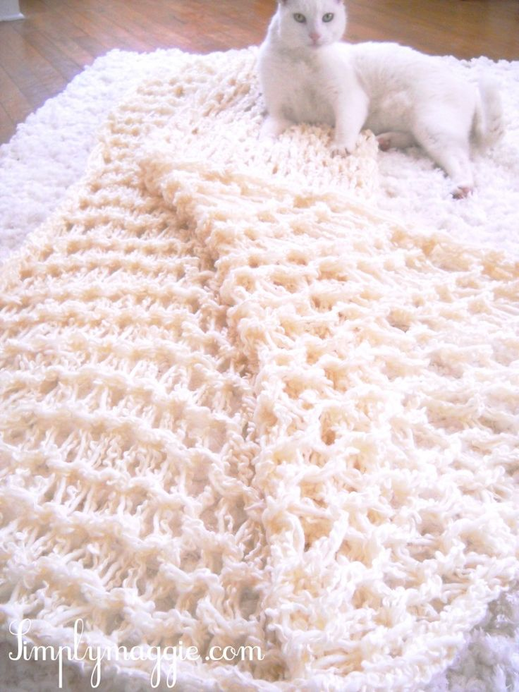 How To – Arm Knit a Blanket in One Hour