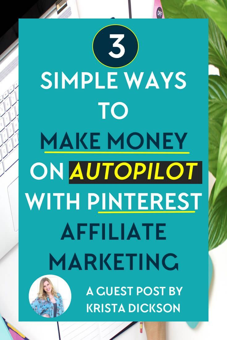 Wondering how to make money with Pinterest affiliate marketing? Hearing all these amazing things and want to give it a try? In this post, you'll find 3 easy to implement methods to help you make money on autopilot via @meerakothand
