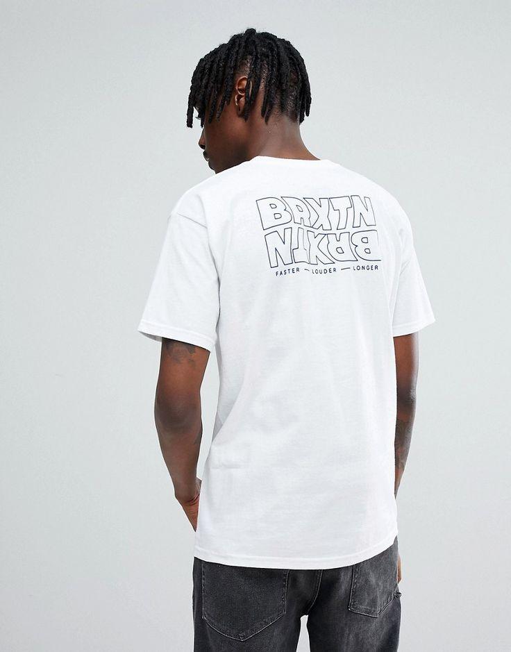 BRIXTON VITUS T-SHIRT WITH BACK PRINT - WHITE. #brixton #cloth #
