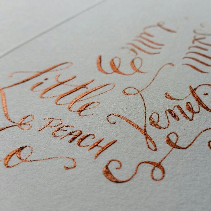 Copper ink testing on cotton paper - Floralovely Calligraphy