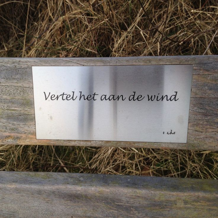 Vertel het aan de wind….