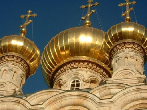 Copper diamond shingles clad an onion dome on a church in ...   Onion Dome Church Saskatchewan