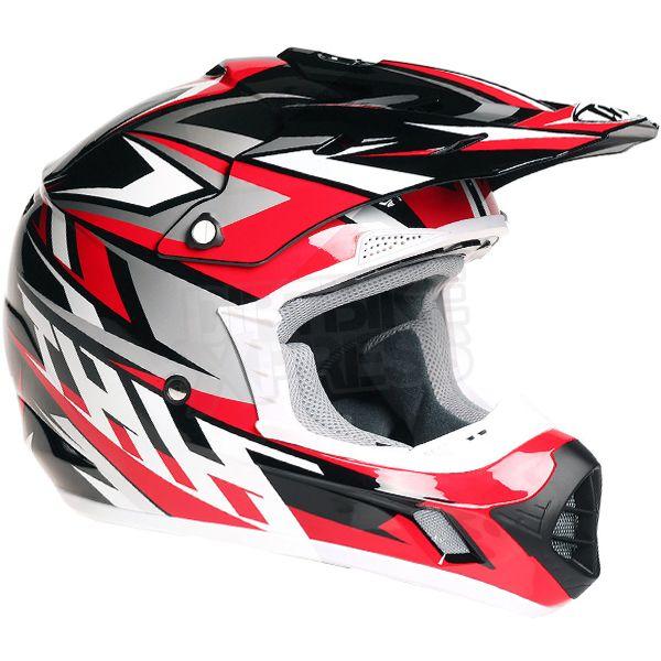 2016 THH TX-12 Helmet - Strike II Black Red