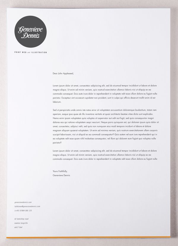 self promotion stationery on the behance network letterhead - Cover Letter Letterhead