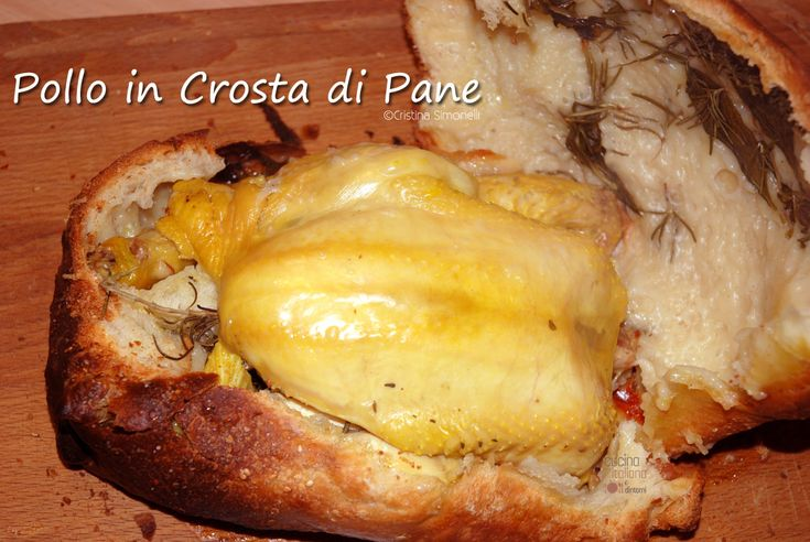 Pollo al forno in crosta di pane