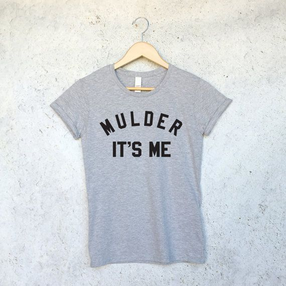 Mulder It's Me T Shirt in Grey for Women - X-Files Shirt - Fox Mulder - Dana…