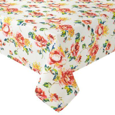 Marvelous Fiesta Floral Bouquet Tablecloth