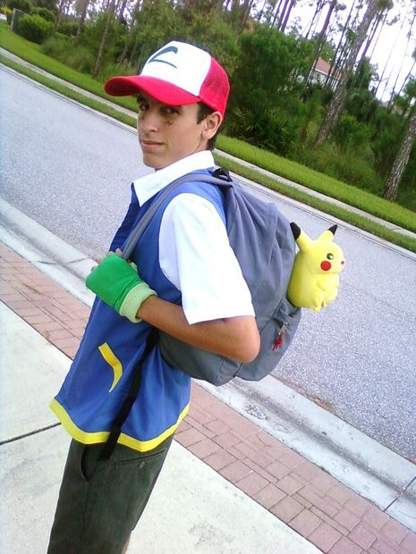 Ash Ketchum - Pokemon costume. Great instructions for DIY!!