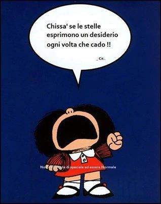 #Stelle cadenti #frase #quote #mafalda #desiderio