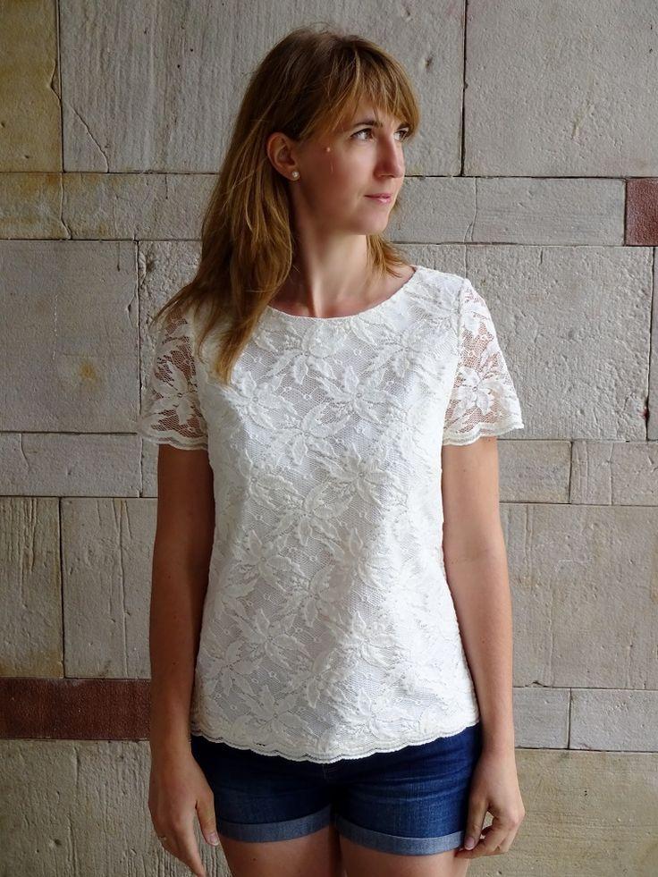 koronkowy top, Burda 2/2013 135; lace top