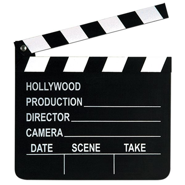 Lights, camera, FUN! These Movie Set Clapboard is ready for action! This fun party prop works like a real movie clapboard, and can be written on with chalk. So give all the stars all a part and let th