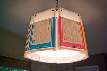 Recycled Cartridge Chandeliers - The Upcycled Lowell and Louise Ink Cartridge Lamps (GALLERY)