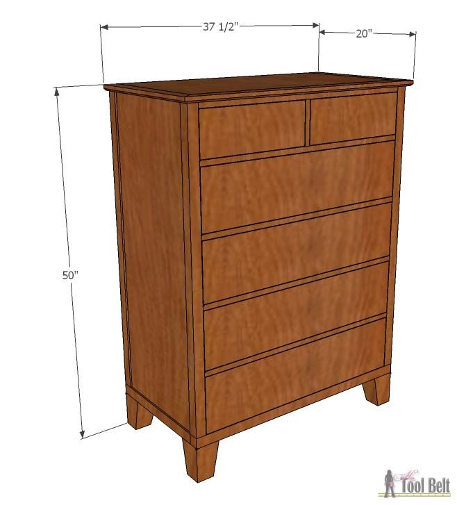 DIY Woodworking Ideas Tall Dresser with Tapered Legs