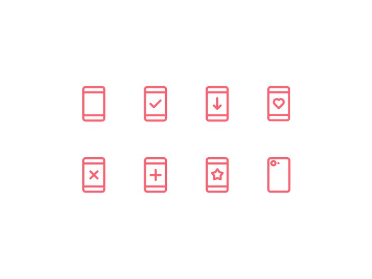 Phone icons by Oleg Frolov #Design Popular #Dribbble #shots
