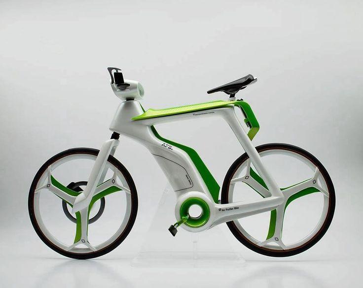 E-Bike mit eingebautem Luftfilter gegen Luftverschmutzung  #ebike #pedelec #design