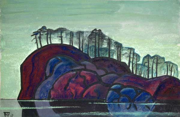 Б.А. Смирнов-Русецкий. Остров на Ладожском озере. 1967