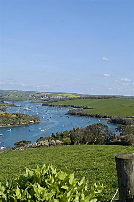 Kingsbridge estuary from East Portlemouth.,Devon. The setting for Ken Folletts Pillars of the Earth