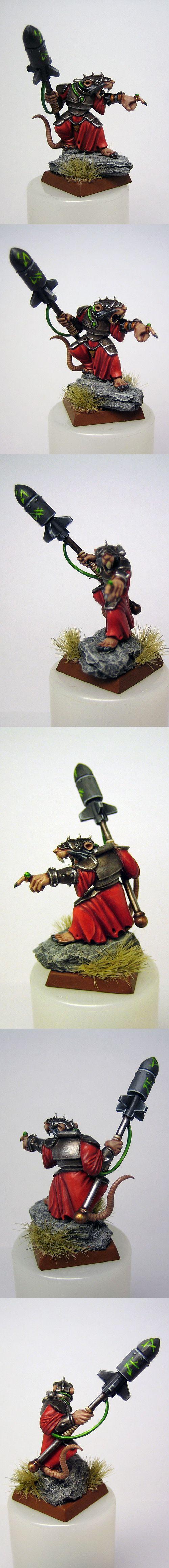Skaven Warlock Engineer with Doom Rocket (conversion)