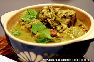 Frango ao Curry verde aromático - Green curry