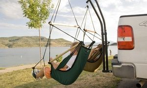 Groupon - $ 299 for a Portable Trailer Twin Hammock Stand (Don't pay $450). Groupon deal price: $299