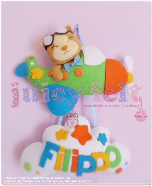 Juicy felt: Juicy Felt...non solo fiocchi nascita!