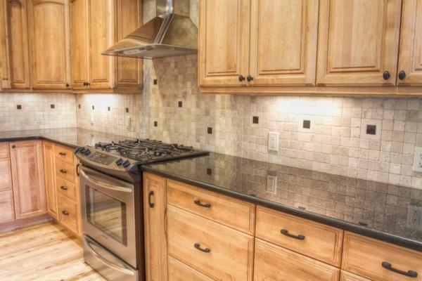 7 best kitchen images on pinterest backsplash ideas black granite countertops and honey oak. Black Bedroom Furniture Sets. Home Design Ideas