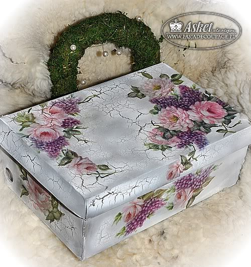 decoupage/Great idea to make storage boxes