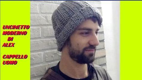 Cappello Uomo Uncinetto Tutorial Ogni Taglia Motivi Per Uncinetto