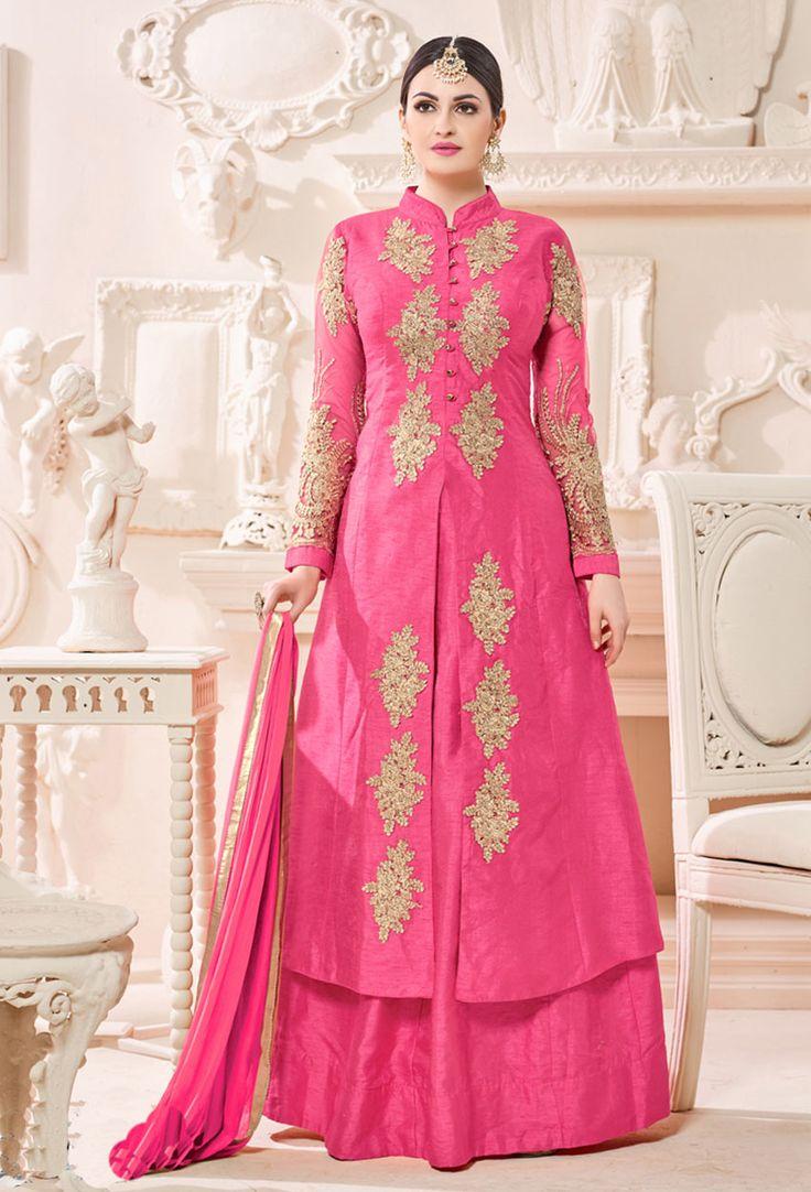 Baby Pink Raw Silk Achkan Style Suit  #achkan #achkanstylaesalwarsuit #achkanstylesalwarkameez #salwarsuitonline #salwarkameezonline #designer #stylish #dress #onlineindiandress #sale#nikvik #freeshipping #usa #australia #canada #newzeland #Uk #UAE