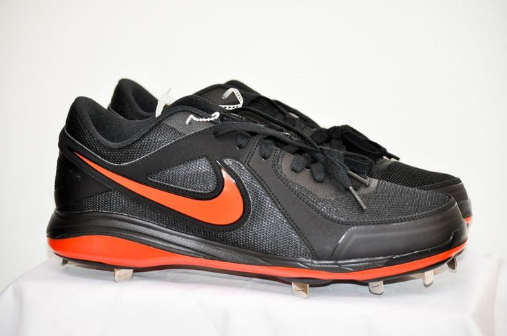 Nike Men's Air MVP Pro Metal Baseball Cleats Black Game Orange size 13 D NEW #Nike