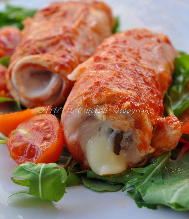 Involtini di pollo e prosciutto veloci vickyart arte in cucina