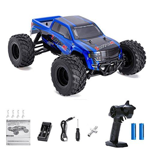 #Distianert 1/12 #4WD #Electric #RC #Car #Monster #Truck #RTR with 2.4GHz #Radio #Remote Control/Crazy #Speed 30MPH/2 #Sets of #Rechargeable #Batteries Best #RC #Buggy for On-road and Off-road #Racing #Rock #Crawling **Faster and Quieter** The #Distianert 1/12 #4WD #Electric #RC #Car is equipped with 390 motor, delivering lightning-fast acceleration and incredible 30mph #speed. Another nice thing is that the newest #RC #car is quieter, so you won't have to worry about your ne