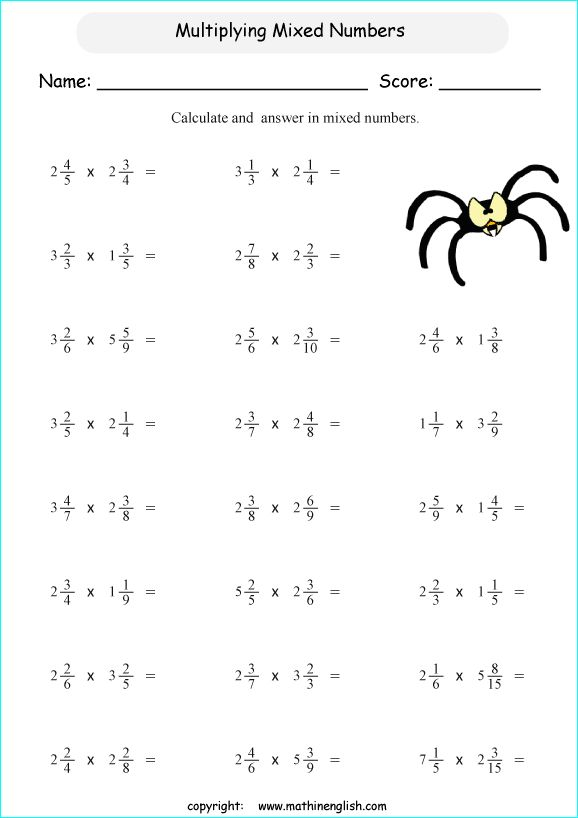Pin By Hasna Pala On Classroom Idea Multiplying Mixed Numbers Fractions Worksheets Multiplying Fractions