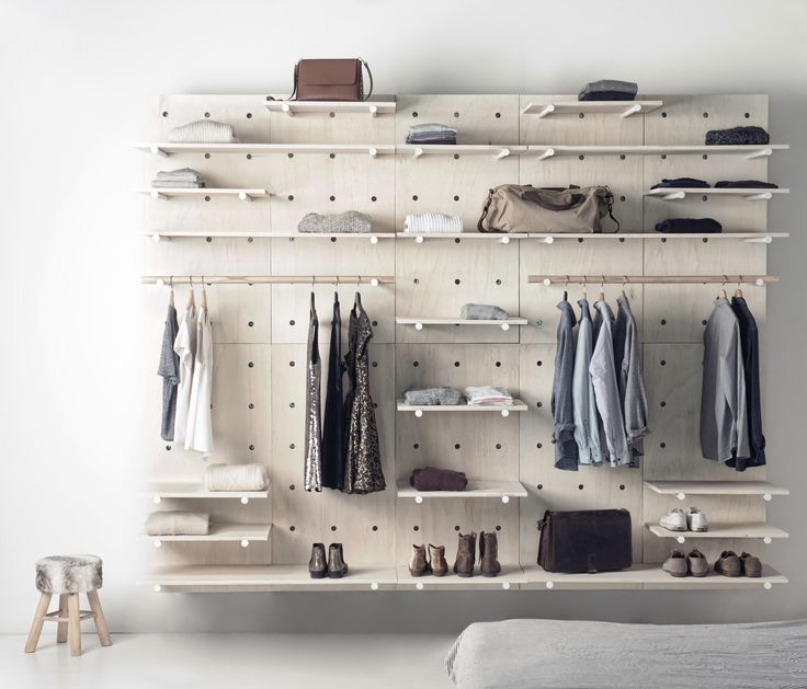 Great modular wardrobe by Foarm! #Foarm #shelves # bedroom #wardrobe
