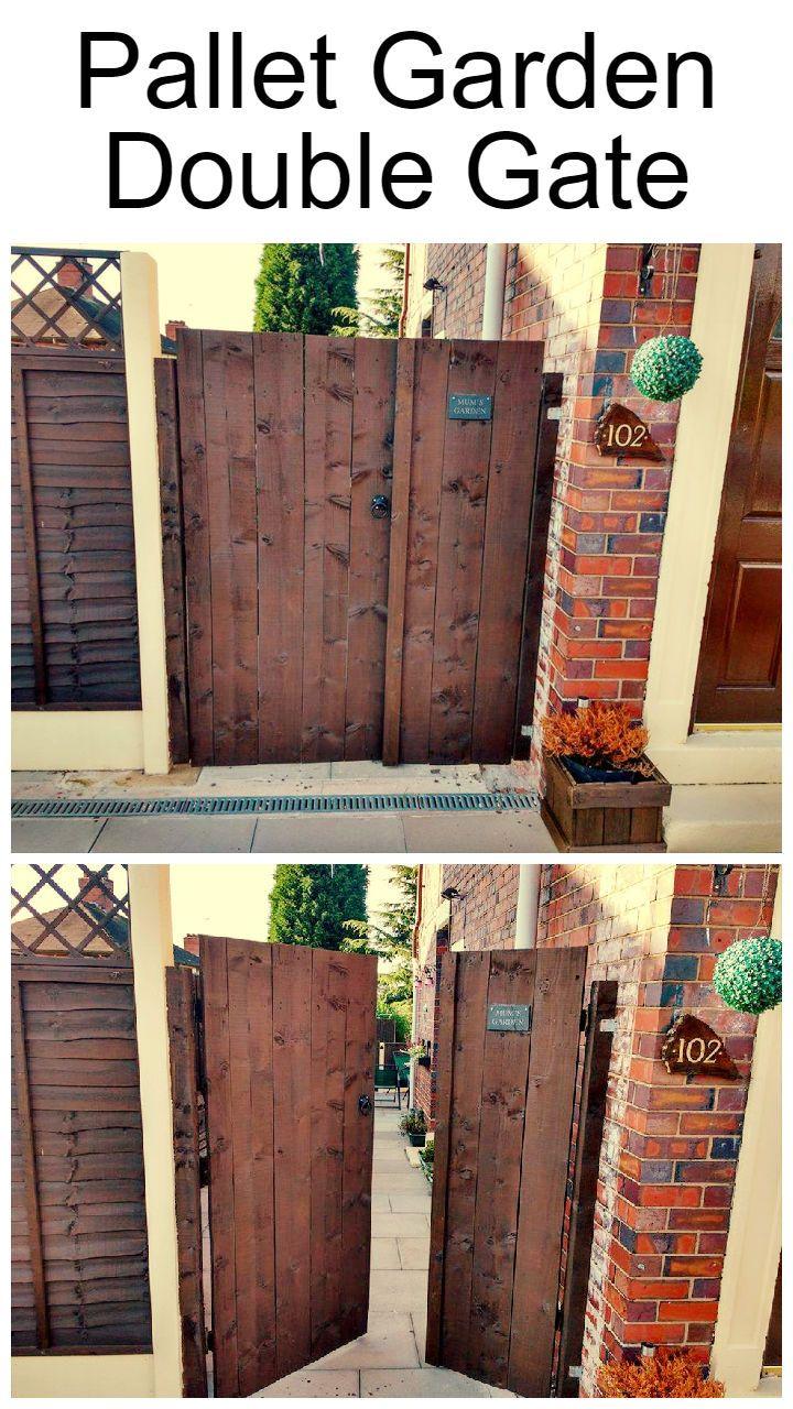 Double Pallet Garden Gate - 101 Pallet Ideas