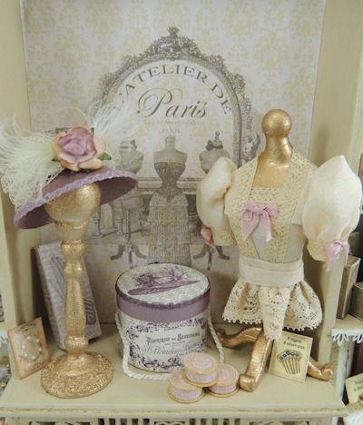 atelier de lea miniatures   Atelier de Paris Ladies Shop Display Online Project