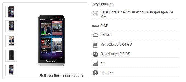 harga blackberry z30