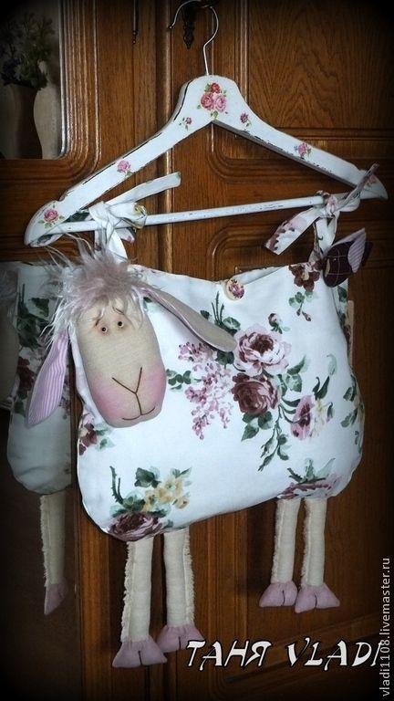 Купить ЛОЛА пакетница-пижамница - розы, овца, овечка, овечка текстильная, Пижамница, хранение, пакетница