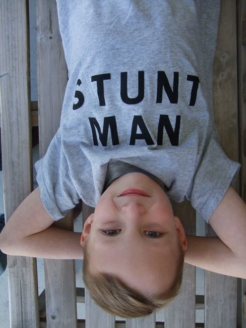 Make for Win for his headstand obsession...