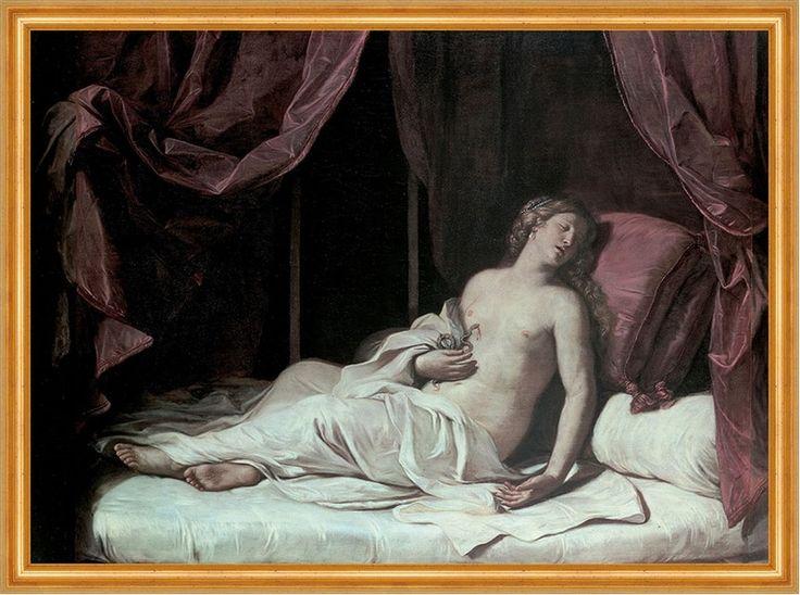 Details zu Death of Cleopatra Giovanni Francesco Barbieri Königin Schlange Biss B A1 02110